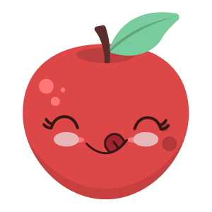 Red apple stickers app messages sticker-10