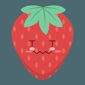 Strawberry stickers app messages sticker-6