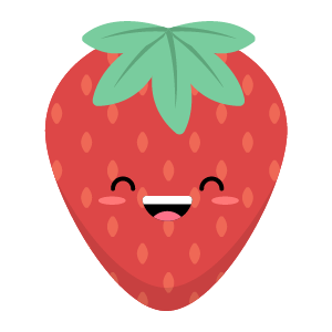 Strawberry stickers app messages sticker-2