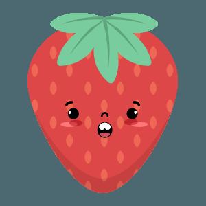 Strawberry stickers app messages sticker-7