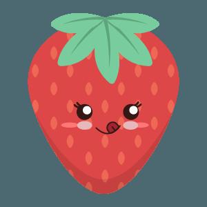 Strawberry stickers app messages sticker-3