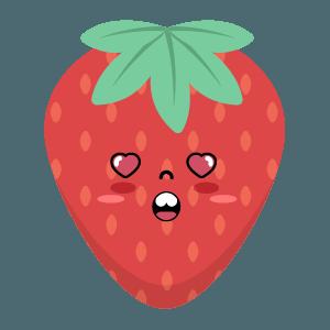 Strawberry stickers app messages sticker-5