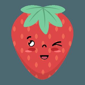 Strawberry stickers app messages sticker-11