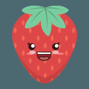 Strawberry stickers app messages sticker-1