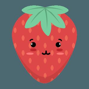 Strawberry stickers app messages sticker-8