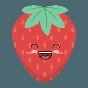Strawberry stickers app messages sticker-10