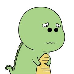 Green Dinosaur messages sticker-6