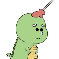 Green Dinosaur messages sticker-2