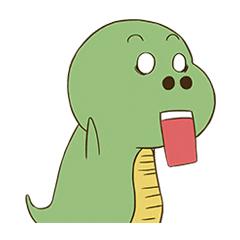 Green Dinosaur messages sticker-5