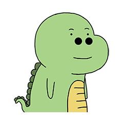 Green Dinosaur messages sticker-0
