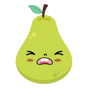 pear face funny stickers messages sticker-4