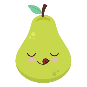 pear face funny stickers messages sticker-7