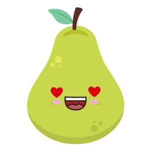 pear face funny stickers messages sticker-9