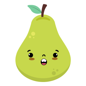 pear face funny stickers messages sticker-5