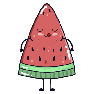 watermelon say stickers messages sticker-5
