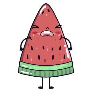 watermelon say stickers messages sticker-7
