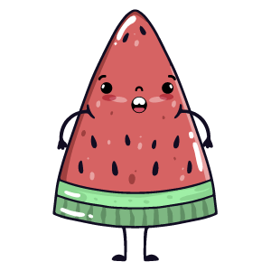 watermelon say stickers messages sticker-11