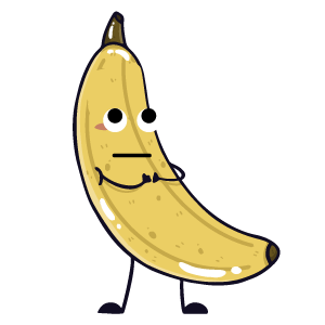 banana funny sticker app messages sticker-7