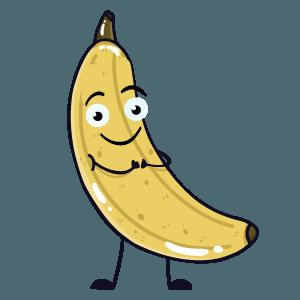 banana funny sticker app messages sticker-11