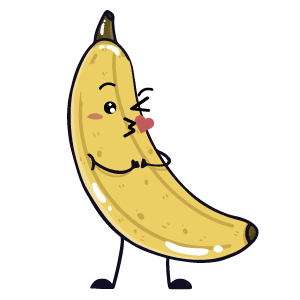 banana funny sticker app messages sticker-9