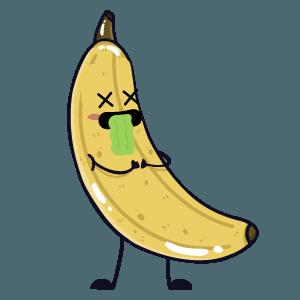 banana funny sticker app messages sticker-3