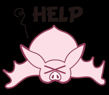 Pink Bat messages sticker-7