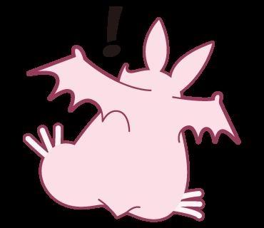 Pink Bat messages sticker-3