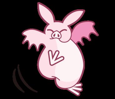 Pink Bat messages sticker-1