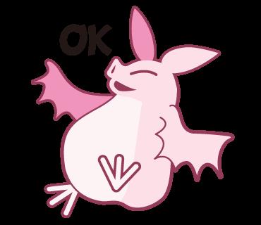 Pink Bat messages sticker-11