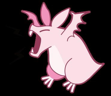 Pink Bat messages sticker-0