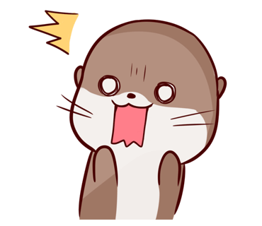 Cute Otter messages sticker-7