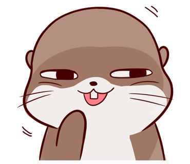 Cute Otter messages sticker-9
