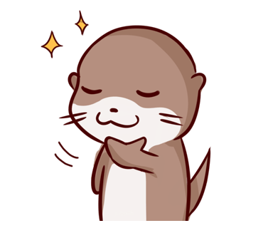 Cute Otter messages sticker-2