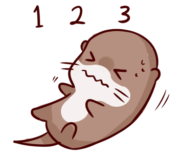 Cute Otter messages sticker-4