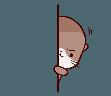 Cute Otter messages sticker-5