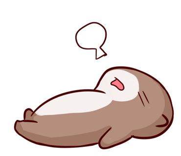 Cute Otter messages sticker-1