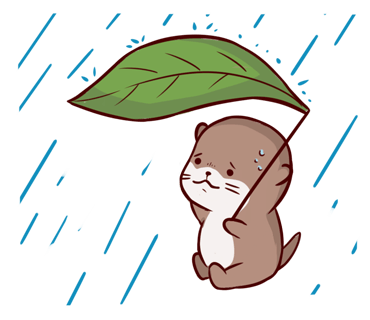 Cute Otter messages sticker-10