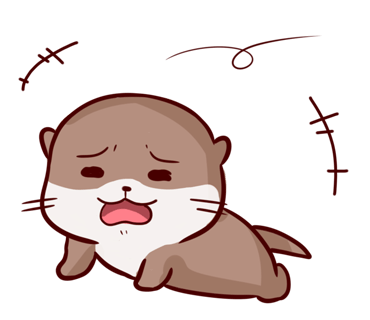 Cute Otter messages sticker-0