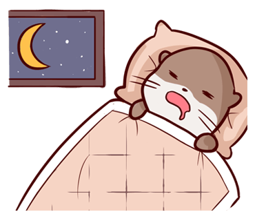 Cute Otter messages sticker-3