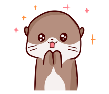 Cute Otter messages sticker-11