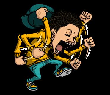 Hip Hop Culture - Animated messages sticker-1