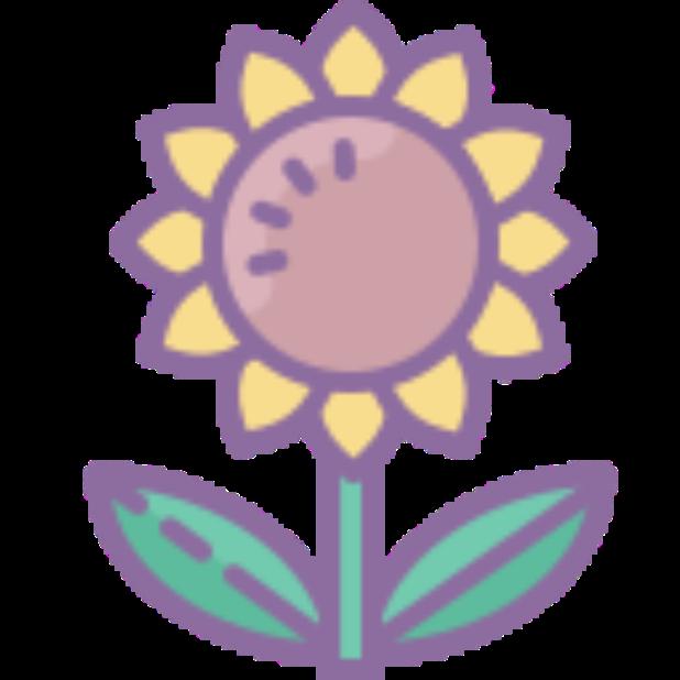Flowers-Sticker messages sticker-6