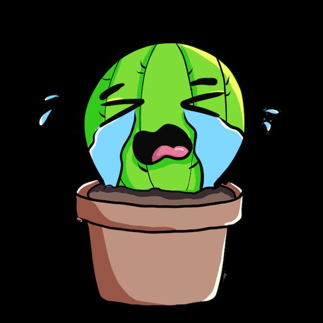 Cute Cactus messages sticker-3