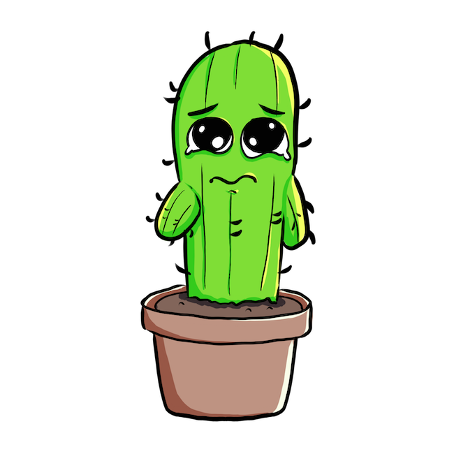 Cute Cactus messages sticker-0