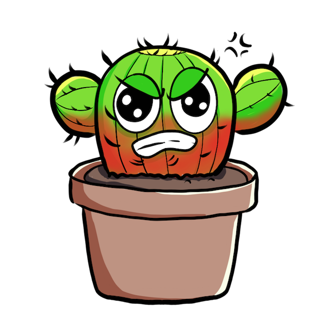 Cute Cactus messages sticker-5