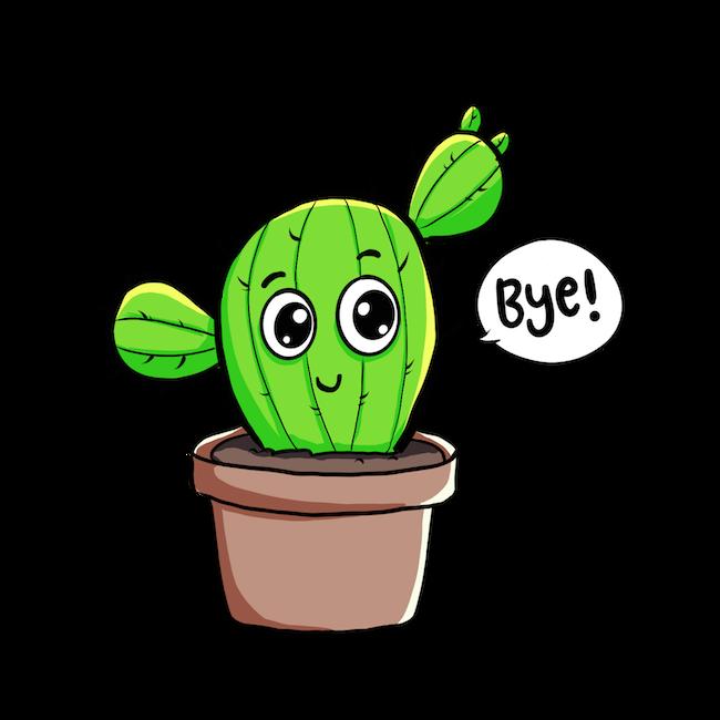 Cute Cactus messages sticker-9