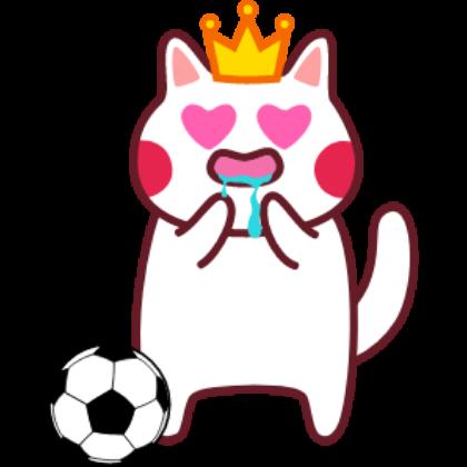 Funny football cat sticker messages sticker-11
