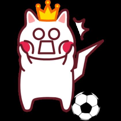 Funny football cat sticker messages sticker-9
