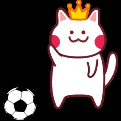 Funny football cat sticker messages sticker-3