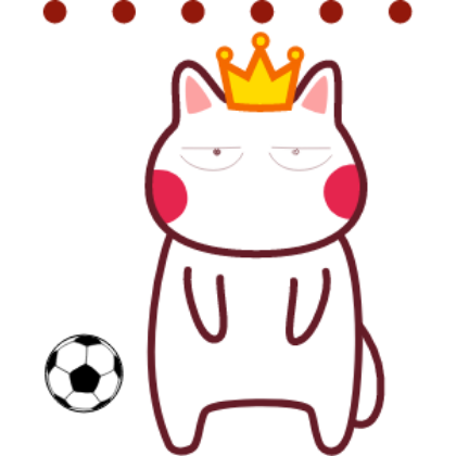 Funny football cat sticker messages sticker-5